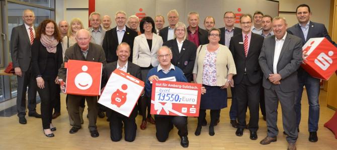 Vierteljährige Spendenübergabe der Sparkasse Amberg-Sulzbach