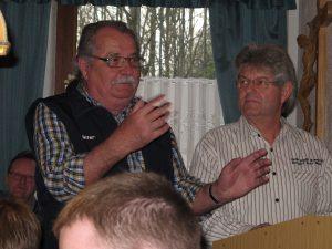 Schützenmeister Günter Fleischmann hieß die Gäste willkommen