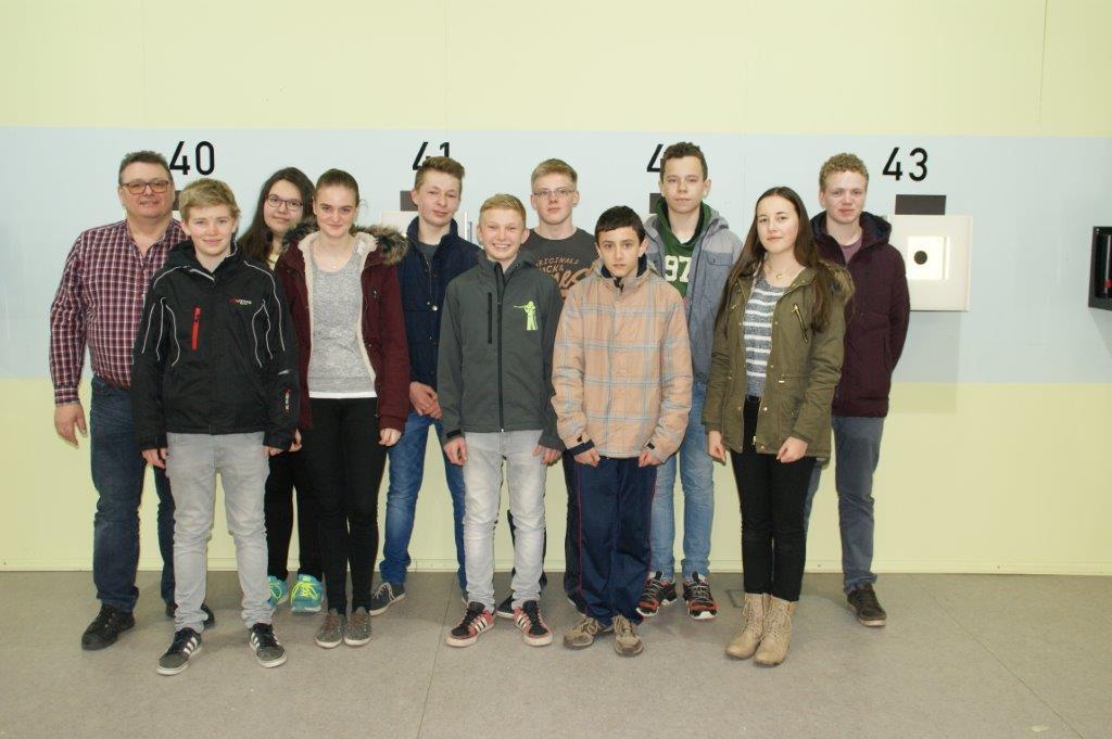 Luftgewehr Schüler- und Jugendmannschaft bei der OSB-Jugendrangliste in Pfreimd 2016.