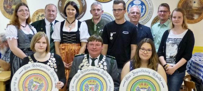 Gaukönigsproklamation im Schützengau Sulzbach-Rosenberg